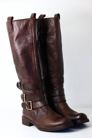 Miz Mooz Jackboots brown-dark brown leather
