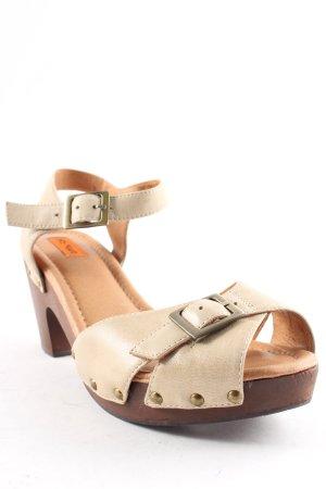 Miz Mooz Platform High-Heeled Sandal oatmeal Boho look