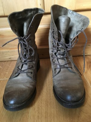 Mjus Boots grün Khaki Nieten