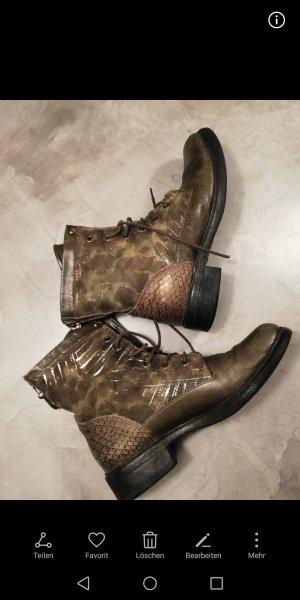 mjus boots Stiefeletten Camouflage gold 40 khaki
