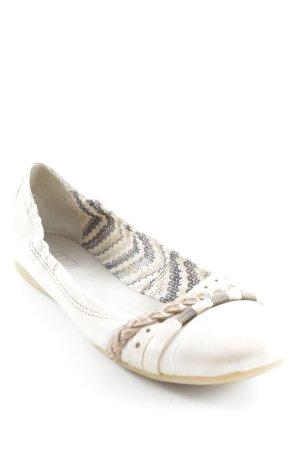 Mjus Opbouwbare ballerina's beige casual uitstraling