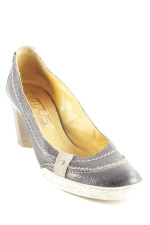 Mjus High Heels dunkelblau-hellbeige Business-Look