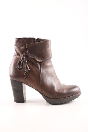 Mjus Reißverschluss-Stiefeletten bronzefarben Business-Look