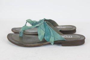 MJUS Sandale Sommerschuhe Schuhe Gr. 40 grün Leder