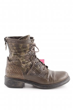 Mjus Lace-up Boots brown animal pattern street-fashion look