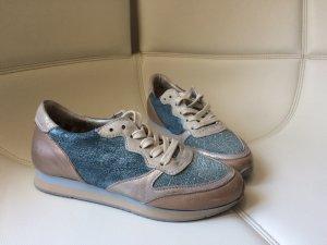 MJUS Sneaker, tolles Leder, Ledersneaker, Glitzer, edel, NEU, Gr.38