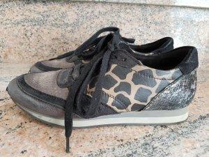 MJUS Sneaker Turnschuhe Leder Gold Bronze Schwarz Animal Gr. 38