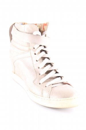 Mjus Wedge Sneaker goldfarben-hellbeige Metallic-Optik