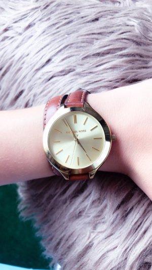 MK Leder Gold Armbanduhr