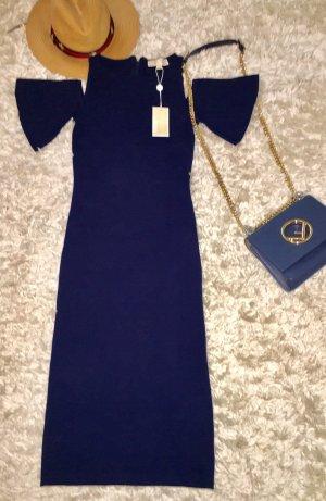 MK marineblaues Kleid mit offener Schulter
