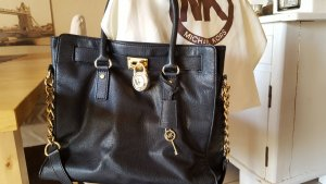 Michael Kors Carry Bag black-gold-colored leather