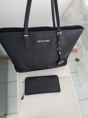 MK Michael Kors Handtasche Tasche mit Geldbeutel  Schwarz