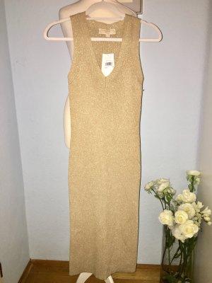 MK Neues Kleid aus Metallic-Rippstrick M