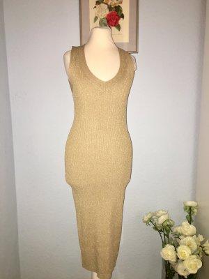 MK Neues Kleid aus Metallic-Rippstrick XS