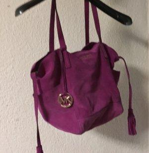 Michael Kors Bolsa violeta-rosa neón Gamuza