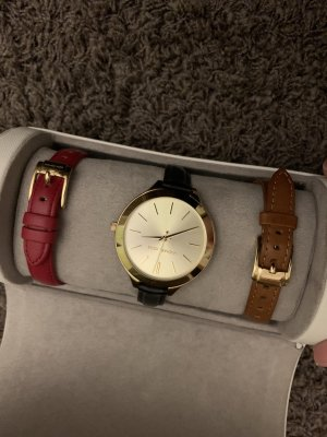 Michael Kors Watch With Leather Strap multicolored