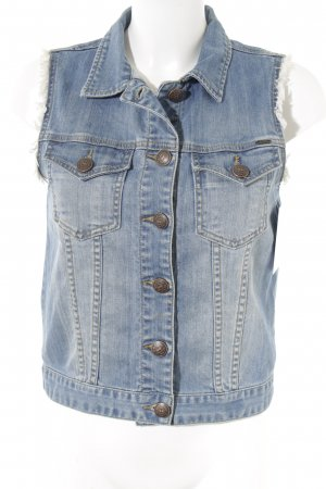 MKT Studio Denim Vest cornflower blue casual look