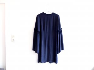 MM6 MAISON MARGIELA Kleid Trompetenärmel Gr. 36 38 italienische Gr. 42 Petrol