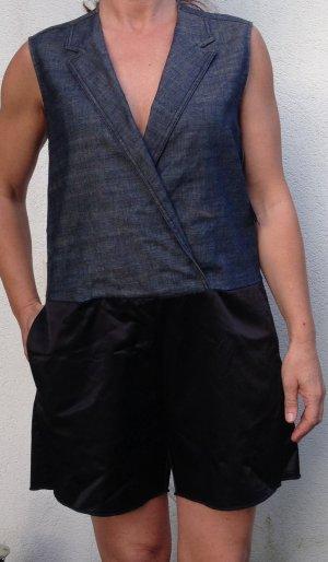 * MM6 * NEU ! ONEPIECE HOSENANZUG SHORTS JUMPSUIT Jeans blau schwarz Gr 40 ( 42)