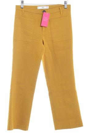 MNG Pantalone a 3/4 giallo-oro stile casual