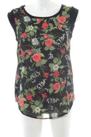 MNG ärmellose Bluse Blumenmuster Casual-Look