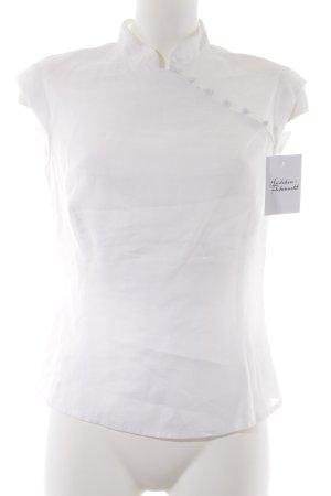MNG ärmellose Bluse weiß Elegant