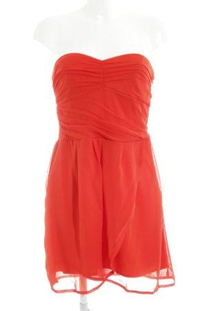 MNG Vestido bandeau rojo elegante