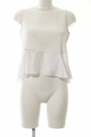 MNG Basics Peplum Top natural white casual look