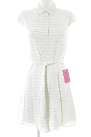 MNG Blusenkleid weiß-hellgrau Streifenmuster Casual-Look