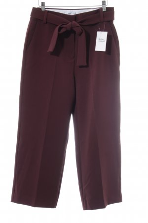MNG Bundfaltenhose purpur Business-Look