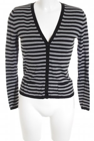 MNG Cardigan schwarz-grau Streifenmuster Casual-Look