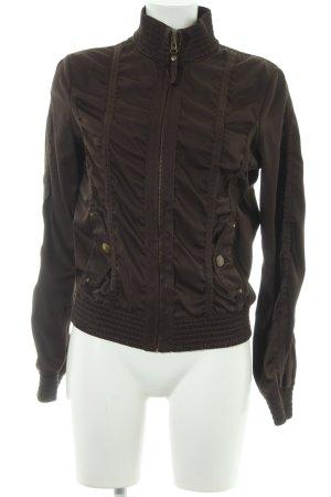 MNG Casual Sportswear Bomberjacke dunkelbraun Street-Fashion-Look