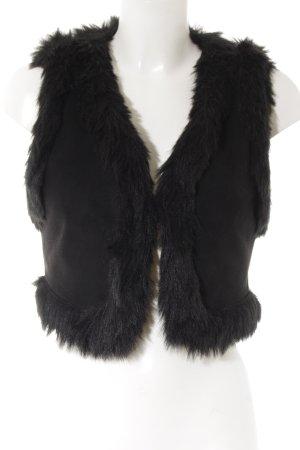 MNG Casual Sportswear Fellweste schwarz Street-Fashion-Look