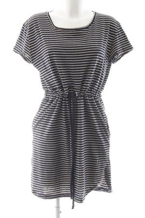 MNG Casual Sportswear Jerseykleid wollweiß-dunkelblau Streifenmuster