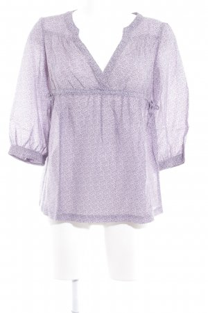 MNG Casual Sportswear Langarm-Bluse helllila florales Muster Elegant