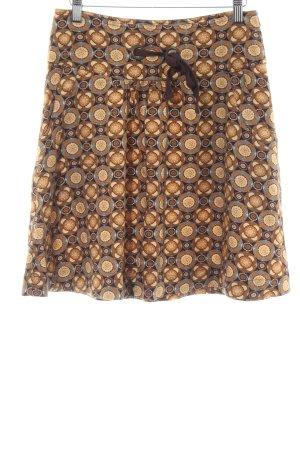 MNG Casual Sportswear Minirock bronzefarben-hellorange abstraktes Muster