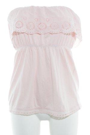 MNG Casual Sportswear schulterfreies Top rosé Romantik-Look