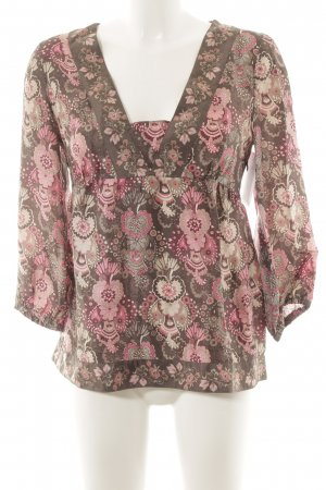 MNG Casual Sportswear Seidenbluse florales Muster Casual-Look