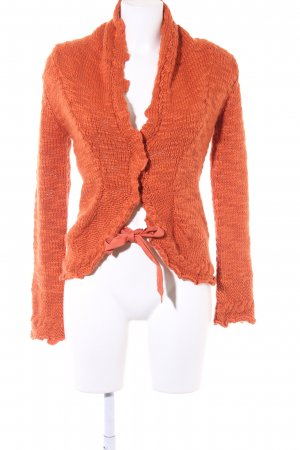 MNG Casual Sportswear Strickjacke dunkelorange Casual-Look