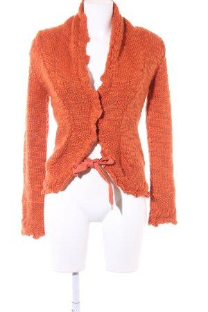 MNG Casual Sportswear Strickjacke dunkelorange Casual-Look