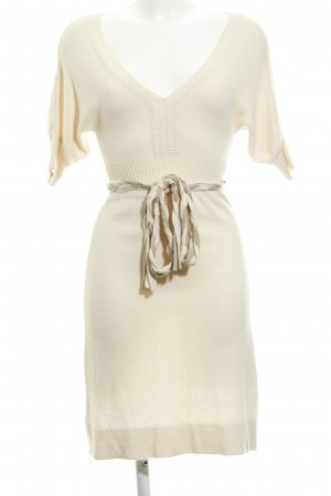 MNG Casual Sportswear Strickkleid creme Casual-Look