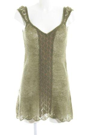 MNG Casual Sportswear Strickkleid grüngrau-beige Casual-Look