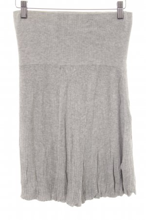 MNG Casual Sportswear Knitted Skirt light grey-silver-colored casual look