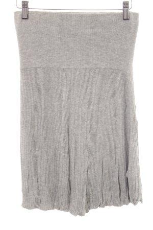 MNG Casual Sportswear Strickrock hellgrau-silberfarben Casual-Look