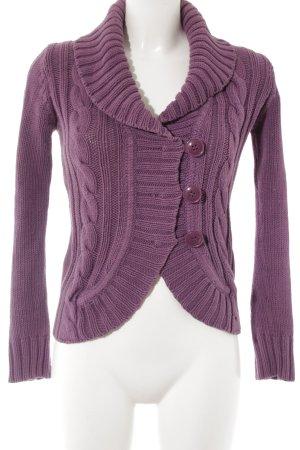 MNG Casual Sportswear Gebreid vest lila pluizig