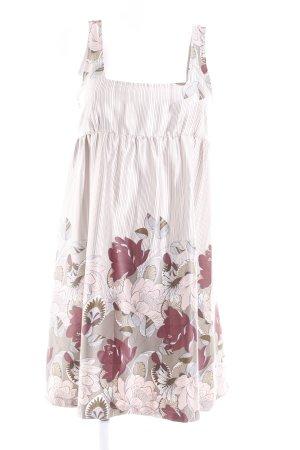 MNG Casual Sportswear Trägerkleid wollweiß-grüngrau florales Muster