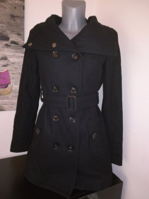 MNG Casual Sportswear Duffel Coat black mixture fibre