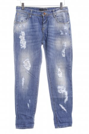 MNG Collection Boyfriendjeans blau Destroy-Optik