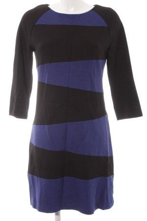 MNG Collection Etuikleid schwarz-blau Streifenmuster Casual-Look