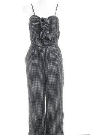 MNG Collection Combinaison noir-blanc motif de tache style décontracté